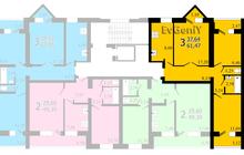 3-комнатная квартира в новом кирпичном доме на Большой Горной