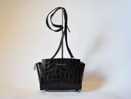 """Кожаная сумка Сумка женская кожаная Cross-body Venison/Венисон -№ 490- черный """"к"""