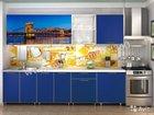 Кухонный гарнитур 2,4 Город синий