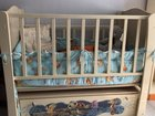 Кроватка детская и шкаф