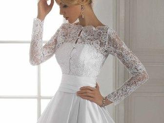 Свежее фотографию Свадебные платья Атласное платье c длинным рукавом 37198533 в Тамбове