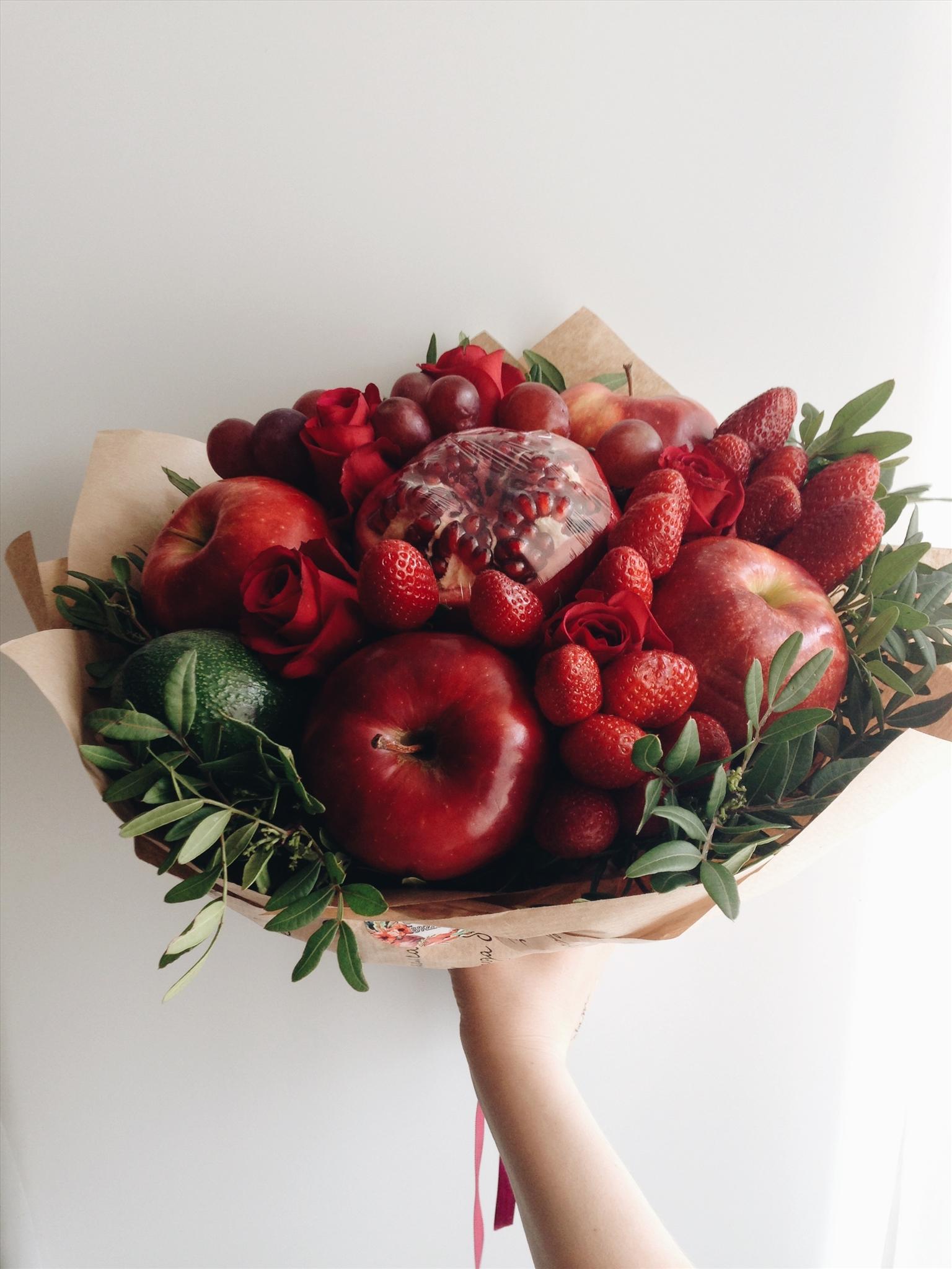 Как сделать букет из ломтиков яблок своими руками 61