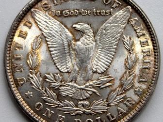 Скачать foto  Продам 1 доллар, 1887 года, Доллар Моргана, (США) 69607484 в Тюмени