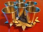 Свежее фото Антиквариат Набор серебряных стопок, шесть штук в наборе 68920031 в Томске