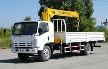Продажа нового бортового грузовика Исузу с манипулятором 5 тн, 13,5 метров