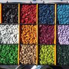 Щебень цветной, декоративный, крашеный