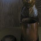 Сувенирный медведь с бочонком для меда