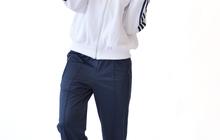 Спортивный костюм хлопок салатный/черный