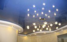 Натяжные потолки, светильники в подарок