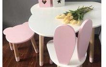 Стул и стол детские «зайка»