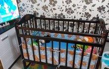 Детская кроватка-качалка Мой малыш