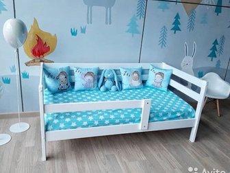 Односпальные кровати по низким ценам купить недорого, ****Размер 80х160****ВСЕГДА В НАЛИЧИИ****Детская кровать «Софа», изготовленная из березы и имеющая покрытие в Уфе