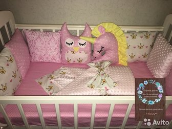 Бортики в кроватку 1 подушка бортик -150 руб 1 подушка игрушка-400 рубПростынка 400 руб на стандартную кроваткуСостояние: Новый в Уфе