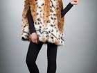 Свежее foto Женская одежда Кейп-пальто из эко-меха рысь ARTFUR 66552598 в Волгограде