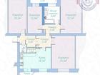 Светлая просторная квартира в кирпичном доме с удобным место
