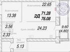 Двухкомнатная квартира в ЖК Белозерский. В квартире сделали