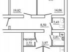 Просторная 3-комнатная квартира.Жилой дом расположен в запад