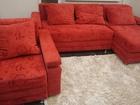 Фото в Мебель и интерьер Мягкая мебель Угловой диван+кресло б-у в Волжском 9000