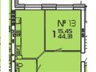 Предлагается к продаже отличная однокомнатная квартира в цен