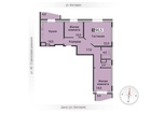 Продается 3-комнатная шикарная квартира черновой отделкой вк