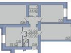 Квартира площадью 94,14 кв.м. с идеальной шумоизоляцией (все