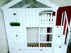 Двухъярусная кровать-домик в Наличии. Для детей